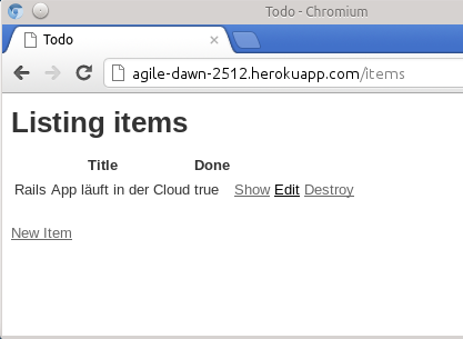 Rails App in der Cloud